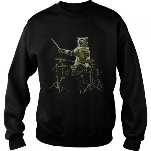Cat The Drummer  Sweatshirt