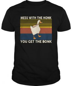 Duck Mess With The Honk You Get The Bonk Vintage  Unisex