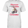 Happiness Is Being A Mom And Grandma T-Shirt Classic Men's T-shirt