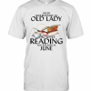 Never Underestimate An Old Lady Who Loves Reading And Was Born In June T-Shirt Classic Men's T-shirt