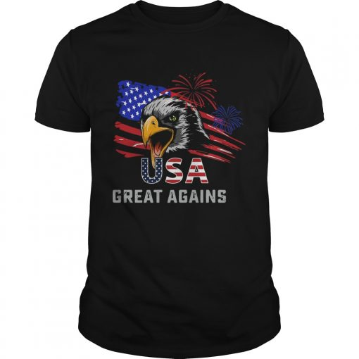 USA Great Again 4th Of July Bald Eagle American Flag  Unisex