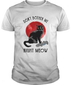 Awesome Cat Dont Bother Me Right Meow  Unisex