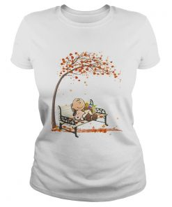 Charlie brown and snoopy fall maple leaves  Classic Ladies