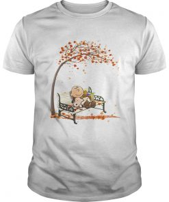 Charlie brown and snoopy fall maple leaves  Unisex