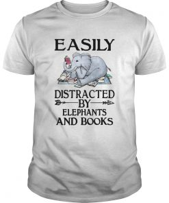 Easily distracted by elephants and books  Unisex