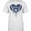 Love New York Yankees Baseball Heart Diamond T-Shirt Classic Men's T-shirt