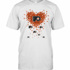 Love Philadelphia Flyers Hockey Logo Hearts T-Shirt Classic Men's T-shirt