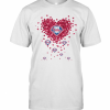 Love Philadelphia Phillies Baseball Heart Diamond T-Shirt Classic Men's T-shirt