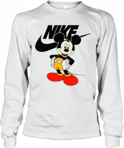 Mickey Mouse Nike Logo T-Shirt Long Sleeved T-shirt