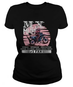 Motocross mx mum coach sponsor protector driver pit crew riding buddy 1 fan  Classic Ladies