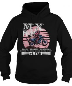 Motocross mx mum coach sponsor protector driver pit crew riding buddy 1 fan  Hoodie