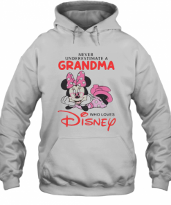 Never Underestimate A Grandma Who Loves Disney T-Shirt Unisex Hoodie
