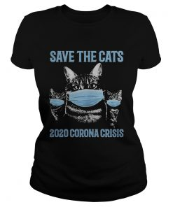 Save the cats 2020 corona crisis face mask  Classic Ladies
