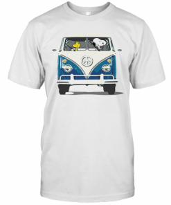 Snoopy And Woodstock Driving Peace Bus T-Shirt Classic Men's T-shirt
