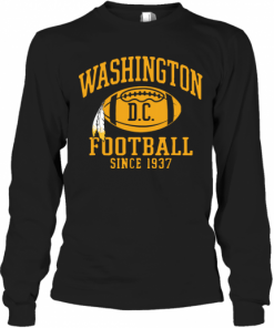 Washington Football DC Since 1937 T-Shirt Long Sleeved T-shirt