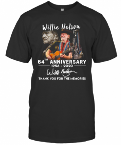 Willie Nelson 64Th Anniversary Thank You For The Memories Signature T-Shirt Classic Men's T-shirt