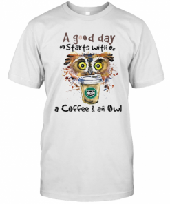 A Good Starts With A Coffee And An Owl T-Shirt Classic Men's T-shirt