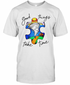 Autism Good Things Take Time T-Shirt Classic Men's T-shirt