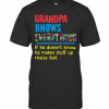Autism Grandpa Knows Everything If He Doesn'T Know He Makes Stuff Up Really Fast T-Shirt Classic Men's T-shirt
