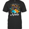 Autism Handprints I Dont Have To Say No If I Don'T Want To I'M Nana T-Shirt Classic Men's T-shirt