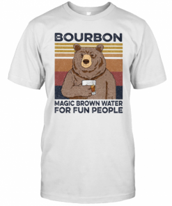 Bear Bourbon Magic Brown Water For Fun People Vintage Retro T-Shirt Classic Men's T-shirt
