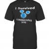 I Survived Coronavirus 2020 Black T-Shirt Classic Men's T-shirt