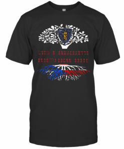 In Massachusetts With Puerto Rican Roots T-Shirt Classic Men's T-shirt