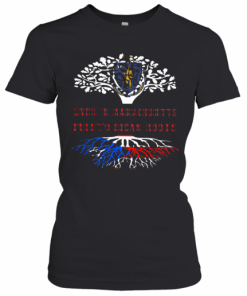 In Massachusetts With Puerto Rican Roots T-Shirt Classic Women's T-shirt