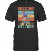 Independence Day Fishing Bass Dad The Man The Myth The Legend Vintage Retro T-Shirt Classic Men's T-shirt