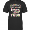 Never Underestimate A Cool Woman With Tuba T-Shirt Classic Men's T-shirt