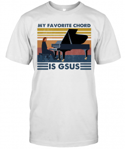 Piano My Favorite Chord Is Gsus Vintage Retro T-Shirt Classic Men's T-shirt