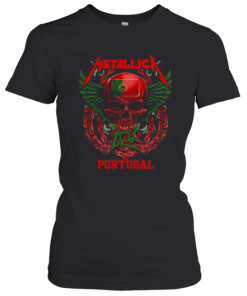 Skull Metallica Portugal Flag T-Shirt Classic Women's T-shirt