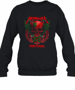 Skull Metallica Portugal Flag T-Shirt Unisex Sweatshirt