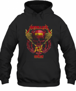 Skull Metallica Spain Flag T-Shirt Unisex Hoodie