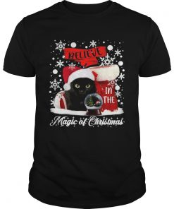 Cat Believe In The Magic Of Christmas  Unisex