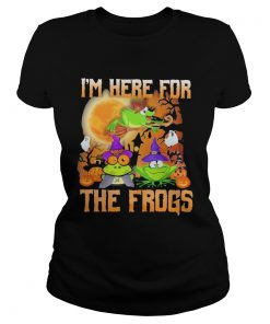 Im Here For The Frogs Halloween  Classic Ladies