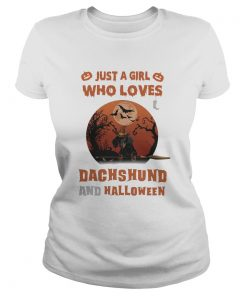 Just A Girl Who Loves Dachshund And Halloween  Classic Ladies