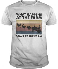 What happens at the farm stays at the farm vintage retro  Unisex
