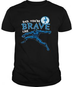 Marvel Black Panther Brave Dad Fathers Day 2020 shirt