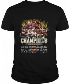 2020 Nfc East Division Champions Washington Football Team Signatures  Classic Men's T-shirt