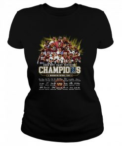2020 Nfc East Division Champions Washington Football Team Signatures  Classic Women's T-shirt