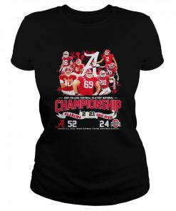 2021 College Football Playoff National Championship Alabama Win Ohio State  Classic Women's T-shirt