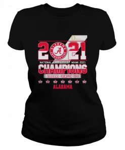 2021 National Championship Miami Alabama Crimson Tide  Classic Women's T-shirt