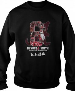 6 Devonta Smith 2020 Heisman Trophy WInner Signature  Unisex Sweatshirt