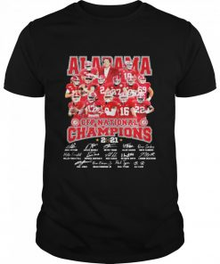 Alabama Cfp National Champions 2021 Signature Player Team Football  Classic Men's T-shirt