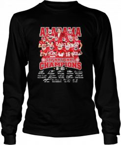 Alabama Cfp National Champions 2021 Signature Player Team Football  Long Sleeved T-shirt