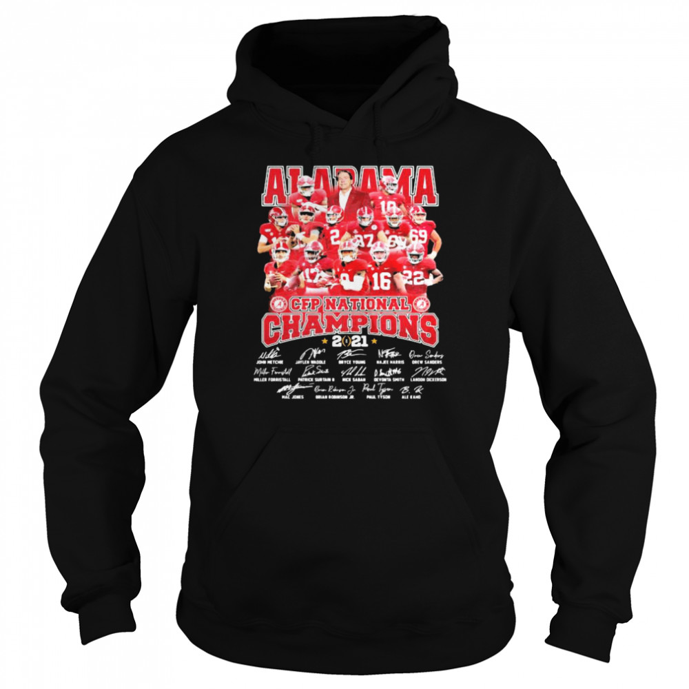 Alabama Cfp National Champions 2021 Signature Player Team Football  Unisex Hoodie