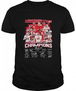 Alabama Crimson Tide Football Playoff National Champions 2021 Signature  Classic Men's T-shirt