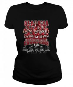 Alabama Crimson Tide Team Players Cfp National Champions 2021 Signatures  Classic Women's T-shirt