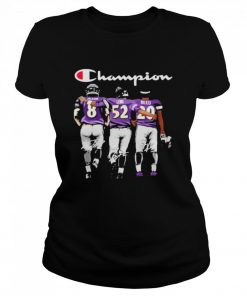 Baltimore ravens jackson lewis reed champion signatures  Classic Women's T-shirt